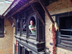 Enjoying some quiet time at Newa Chen home-stay, Patan