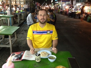 Enjoying a meal on my soi: Ramkamhang 52/2