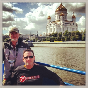 On a river cruise in Moscow