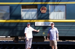 Don and Scott with our Chinese train in Russia