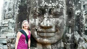 Ellery at Cambodia's Bayon temple