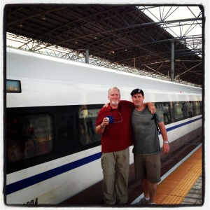 Our final train of the trip - a Chinese bullet train