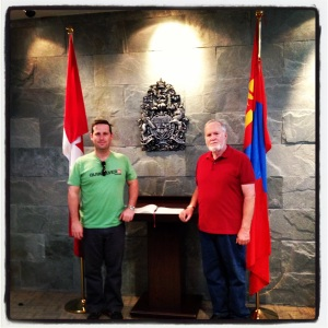 At the Canadian Embassy in Ulaanbaatar